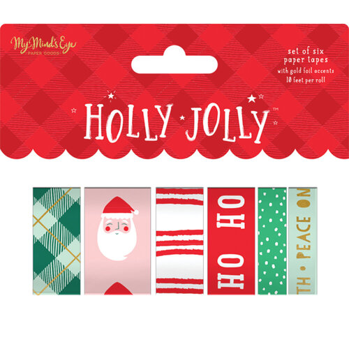 My Minds Eye - Christmas - Holly Jolly Collection - Washi Tape with Foil Accents