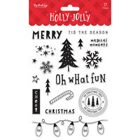 My Minds Eye - Christmas - Holly Jolly Collection - Clear Acrylic Stamps