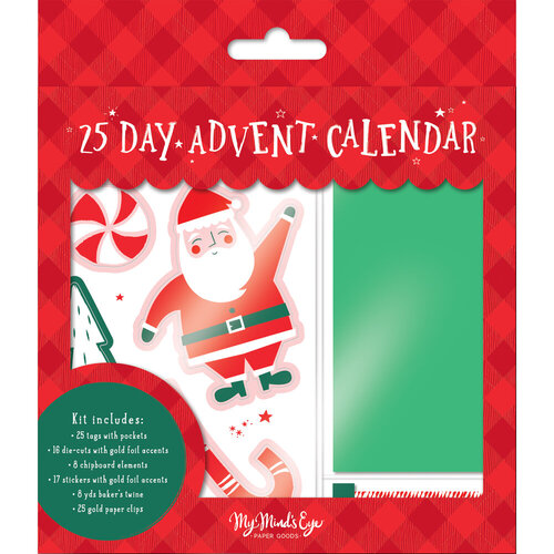 My Minds Eye - Christmas - Holly Jolly Collection - Advent Kit with Foil Accents
