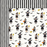 My Minds Eye - Trick or Treat Collection - Halloween - 12 x 12 Double Sided Paper - Best Witches