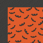 My Minds Eye - Trick or Treat Collection - Halloween - 12 x 12 Double Sided Paper - Batly
