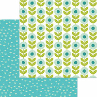 My Mind's Eye - Happy Days Collection - 12 x 12 Double Sided Paper - Glad Garden