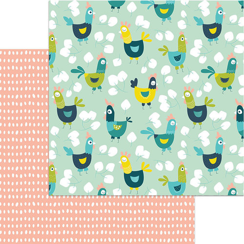 My Mind's Eye - Happy Days Collection - 12 x 12 Double Sided Paper - Free Range