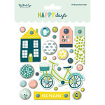 My Mind's Eye - Happy Days Collection - Decorative Brads