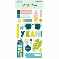 My Mind's Eye - Happy Days Collection - Chipboard Stickers