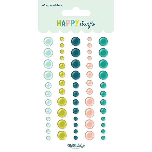 My Mind's Eye - Happy Days Collection - Enamel Dots