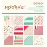 My Minds Eye - Hooray Collection - 6 x 6 Paper Pad with Foil Accents