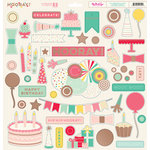 My Minds Eye - Hooray Collection - 12 x 12 Chipboard Stickers - Elements