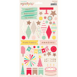 My Minds Eye - Hooray Collection - Cardstock Stickers with Foil Accents