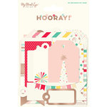 My Minds Eye - Hooray Collection - Decorative Tags with Foil Accents