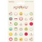 My Minds Eye - Hooray Collection - Puffy Stickers