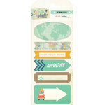 My Minds Eye - Hello World Collection - Travel - Cardstock Stickers