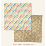 My Minds Eye - Hello World Collection - All Aboard - 12 x 12 Double Sided Paper - We are Here