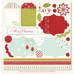 My Mind's Eye - I Believe Collection - Christmas - 12 x 12 Glitter Die Cut Paper - I Believe, CLEARANCE