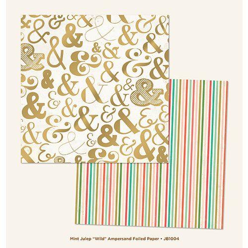 My Minds Eye - Jubilee Collection - Mint Julep - 12 x 12 Double Sided Foil Paper - Wild Ampersand