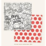 My Minds Eye - Jubilee Collection - Mint Julep - 12 x 12 Double Sided Paper - Journey Adventure