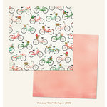 My Minds Eye - Jubilee Collection - Mint Julep - 12 x 12 Double Sided Paper - Ride Bike