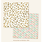My Mind's Eye - Jubilee Collection - Mint Julep - 12 x 12 Double Sided Foil Paper - Ride Love