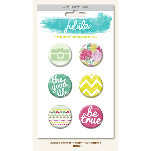 My Minds Eye - Jubilee Collection - Sherbet - Flair Pins - Pretty