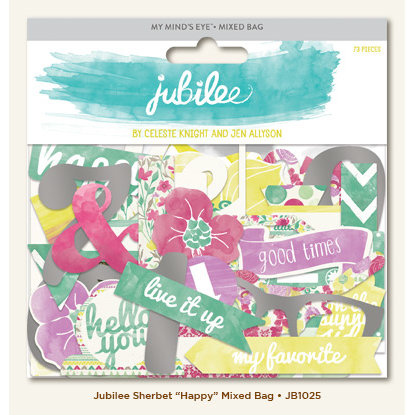 My Minds Eye - Jubilee Collection - Sherbet - Mixed Bag - Happy