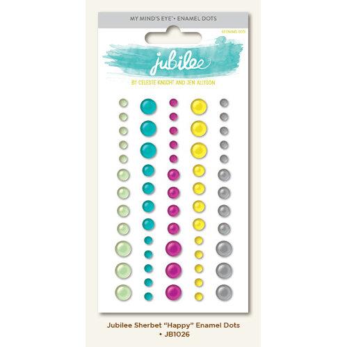 My Minds Eye - Jubilee Collection - Sherbet - Enamel Dots - Happy