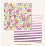 My Minds Eye - Jubilee Collection - Sherbet - 12 x 12 Double Sided Paper - Happy Lovely