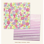 My Mind's Eye - Jubilee Collection - Sherbet - 12 x 12 Double Sided Paper - Happy Lovely