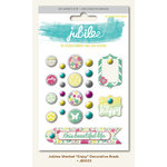 My Minds Eye - Jubilee Collection - Sherbet - Decorative Brads - Enjoy