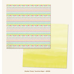 My Minds Eye - Jubilee Collection - Sherbet - 12 x 12 Double Sided Paper - Enjoy Sunshine