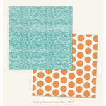 My Mind's Eye - Jubilee Collection - Tangerine - 12 x 12 Double Sided Paper - Awesome Arrow