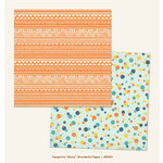 My Minds Eye - Jubilee Collection - Tangerine - 12 x 12 Double Sided Paper - Story Wonderful