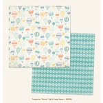 My Minds Eye - Jubilee Collection - Tangerine - 12 x 12 Double Sided Paper - Honor Up and Away