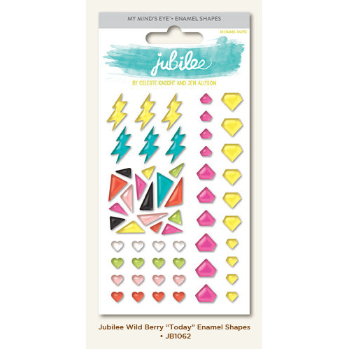 My Minds Eye - Jubilee Collection - Wild Berry - Enamel Shapes - Today