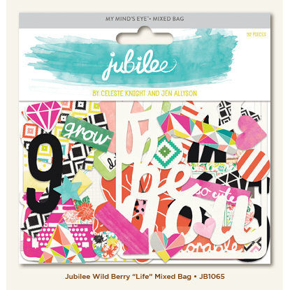 My Minds Eye - Jubilee Collection - Wild Berry - Mixed Bag - Life