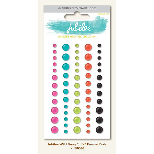 My Minds Eye - Jubilee Collection - Wild Berry - Enamel Dots - Life