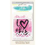 My Minds Eye - Jubilee Collection - Wild Berry - 3 x 4 Journal Cards - Hey You