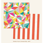 My Mind's Eye - Jubilee Collection - Wild Berry - 12 x 12 Double Sided Paper - Hey You Geometric