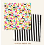 My Minds Eye - Jubilee Collection - Wild Berry - 12 x 12 Double Sided Paper - Love Stamped