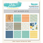 My Minds Eye - Jubilee Collection - Tangerine - 6 x 6 Paper Pad