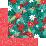 My Minds Eye - Jingle All the Way Collection - Christmas - 12 x 12 Double Sided Paper - Poinsettia Pines