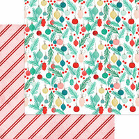 My Minds Eye - Jingle All the Way Collection - Christmas - 12 x 12 Double Sided Paper - Ornaments Galore