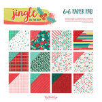 My Minds Eye - Jingle All the Way Collection - Christmas - 6 x 6 Paper Pad