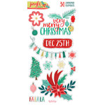 My Minds Eye - Jingle All the Way Collection - Christmas - Chipboard Stickers
