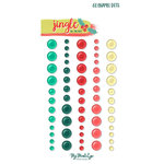 My Minds Eye - Jingle All the Way Collection - Christmas - Enamel Dots
