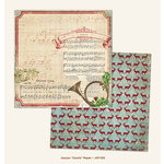 My Mind's Eye - Joyous Collection - Christmas - 12 x 12 Double Sided Paper - Carols