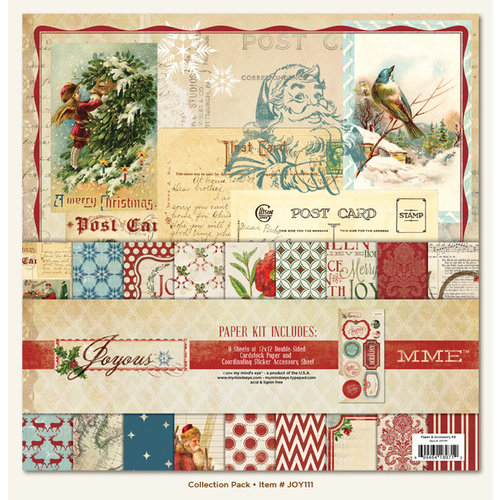 My Mind's Eye - Joyous Collection - Christmas - 12 x 12 Paper Kit