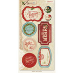 My Minds Eye - Joyous Collection - Christmas - Cardstock Stickers - Gift Labels
