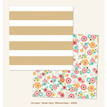My Minds Eye - Just Saying Collection - 12 x 12 Double Sided Glitter Paper - Garden Party