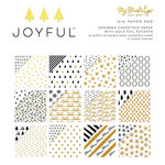 My Minds Eye - Joyful Collection - Christmas - 6 x 6 Paper Pad with Foil Accents