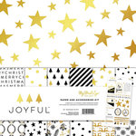 My Minds Eye - Joyful Collection - Christmas - 12 x 12 Paper and Accessories Kit with Foil Accents